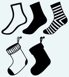 Socks and hristmas stocking Royalty Free Stock Photos