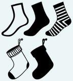 Socks and hristmas stocking Royalty Free Stock Photos