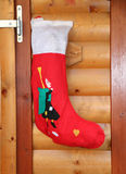 Socks hung to receive gifts from Befana. Red socks hung to receive gifts from Befana Stock Photo