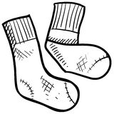 Socks illustration Royalty Free Stock Photo
