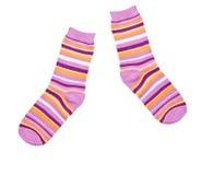 Socks isolated. On white background Stock Photos