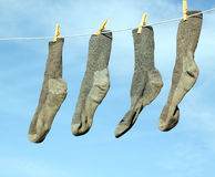 Socks on the line Stock Photos