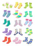 Socks for little girls Royalty Free Stock Photos