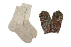 Socks and mittens Stock Image