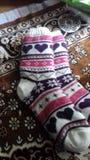 Socks. Moldavian traditional socks stock image