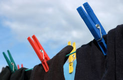Socks On Clothes-line Stock Images