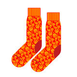 Socks for patriot of Russia. Clothing accessory Russian national Stock Photography