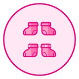 Socks. Pink baby icon on a white background stock illustration