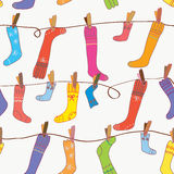 Socks seamless funny wallpaper Royalty Free Stock Photo