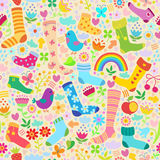 Socks seamless pattern Royalty Free Stock Image