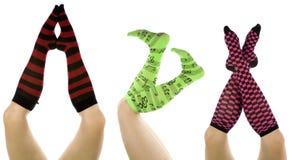 Socks set different positions Stock Photo