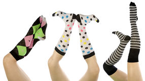 Socks set in different positions Stock Photography