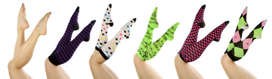 Socks set scissor Royalty Free Stock Photo