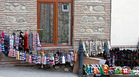 Socks. Souvenirs in Georgia Signaghi royalty free stock photos