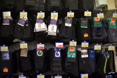 socks in the supermarket Stock Images