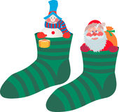 In the socks Stock Images