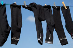 Socks on a Washing Line Stock Photo