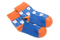 Socks on white Royalty Free Stock Photography
