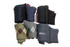 Socks. Folded Socks on White Background royalty free stock image
