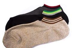 Socks on white background Stock Photos