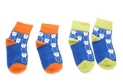 Socks on white background Royalty Free Stock Image