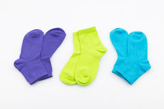 Socks on white background Stock Image