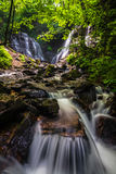 Soco Falls in Cherokee, N.C royalty free stock photos