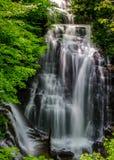 Soco Falls in Cherokee, North Carolina stock photo