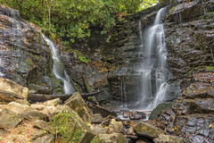 Soco Falls. In Maggie Valley North Carolina Stock Photos