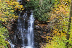 Soco Falls near Cherokee, NC Royalty Free Stock Photography