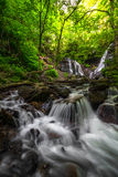 Soco Falls near Cherokee, North Carolina Royalty Free Stock Images