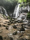 Soco falls in North Carolina. An amazing point of view of Soco Falls in North Carolina on our Vacation in the valley Stock Image