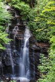 Soco Falls in North Carolina. Soco Falls in Western North Carolina stock photography