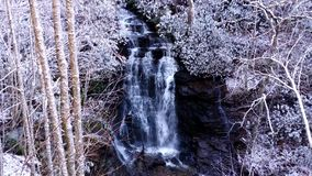 Soco Falls Winter scene. Soco Falls after a snowfall stock video
