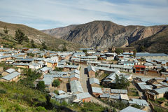 Socoroma in the hills. Socoroma village in the hills, Chile Royalty Free Stock Image