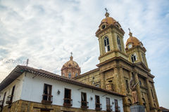 Socorro Cathedral. Cathedral on the main plaza in Socorro, a town in Santander, Colombia Stock Photo