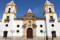 Socorro Church in Ronda. Andalusia, Spain Royalty Free Stock Images