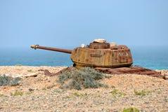 Socotra, δεξαμενή μάχης, Υεμένη Στοκ Φωτογραφία