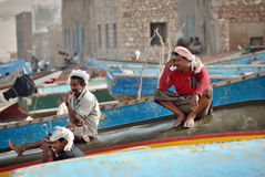 Socotra, fishermen Royalty Free Stock Image