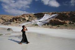 Socotra. A fishermen showing his skills Stock Image