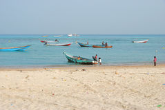 Socotra, fishing boats Stock Image