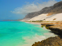 Socotra island. Scenic view to socotra island with blue sky and ocean Stock Photo