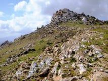 Socotra Island inland. Rock formations, Socotra Island inland Stock Images