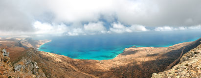 Socotra island. Yemen, panoramic view from easternmost point Royalty Free Stock Photography