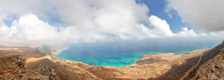 Socotra island. Yemen, panoramic view from easternmost point Stock Photography