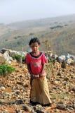 Socotrian jong meisje Stock Foto