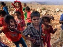 Socotriankinderen yemen Stock Foto's