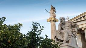 Socrates古典雕象从边的 影视素材