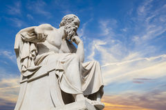 Socrates,古希腊哲学家 免版税库存照片