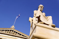Socrates. In front of the Academy of Athens Royalty Free Stock Image